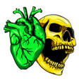 hand drawn skull doodle vector image