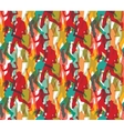 Happy dancing people color seamless pattern vector image vector image