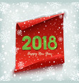 happy new year 2018 red paper banner vector image vector image