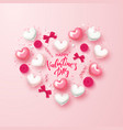 happy valentines day festive card beautiful vector image vector image