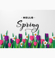 hello spring seasonal greeting banner vector image