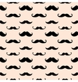 Hipster Mustache Seamless Pattern vector image vector image