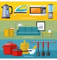 Household Appliance Furniture Cooking Serve Meal vector image vector image