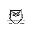 icon or owl logo in thin line style vector image vector image