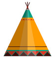 indian teepee wigwam tent isolated on white vector image