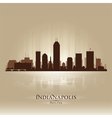 Indianapolis Indiana skyline city silhouette vector image vector image