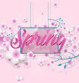 inscription spring in flowers vector image vector image