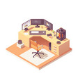 isometric 3d artist workplace vector image