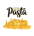 italian pasta calligraphic handwriting lettering vector image vector image
