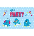 Lets party poster vector image vector image
