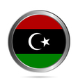 Libya flag button vector image vector image