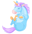 Magic Unicorn is Sleeping vector image vector image