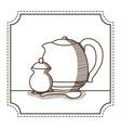 natural tea drink vector image