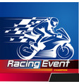 racing event vector image vector image