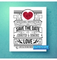 retro stylish save the date wedding template vector image vector image