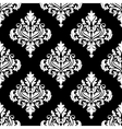 retro white damask seamless pattern vector image vector image