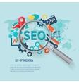 Seo Marketing Flat
