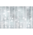 Silver bokeh holiday Christmas lights vector image vector image