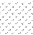 simple paper airplane seamless pattern vector image