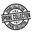 spring collection round grunge black stamp vector image vector image