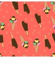 Summer Seamless Pattern Ice Creams2 vector image vector image