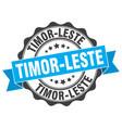 timor-leste round ribbon seal vector image vector image