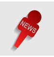TV news microphone sign vector image vector image