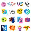 vs versus lettering symbol v s in explosion vector image vector image
