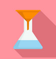 water funnel icon flat style vector image vector image