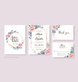 wedding invitation save date rsvp card vector image vector image