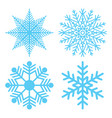winter symbol snowflake christmas flake vector image