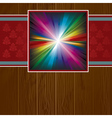 wooden background with rainbow vector image vector image
