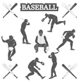 baseball silhouettes on the white background vector image
