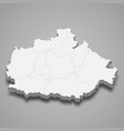 3d isometric map baranya is a county hungary vector image vector image