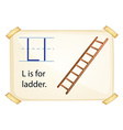 A letter L for ladder vector image vector image