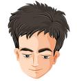 A sad mans head vector image vector image