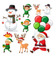 a set of christmas element vector image vector image