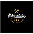adventure lettering logos with gold vector image vector image