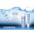 Aqua moisturizing cosmetic ads template hydrating