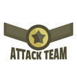 attack team icon logo flat style vector image