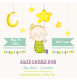 Baby Boy Sleeping on a Star - Baby Shower vector image vector image
