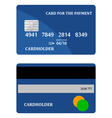 bank card vector image vector image