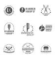 Barber Shop Label Set vector image