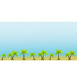 beautiful textured background with palm trees and vector image vector image