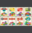 best prices set promo posters advert stickers vector image vector image