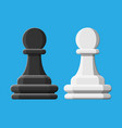 black and white chess pawn piece vector image