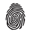 black fingerprint shape vector image