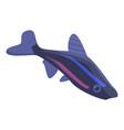 blue aquarium fish icon isometric style vector image vector image