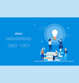 bright ideas - flat design style colorful banner vector image