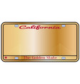 california license plate vector image vector image